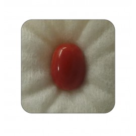 Certified Red Coral Premium 7+ 4.55ct