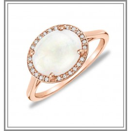 Opal Cherish Ring 18k Rose Gold